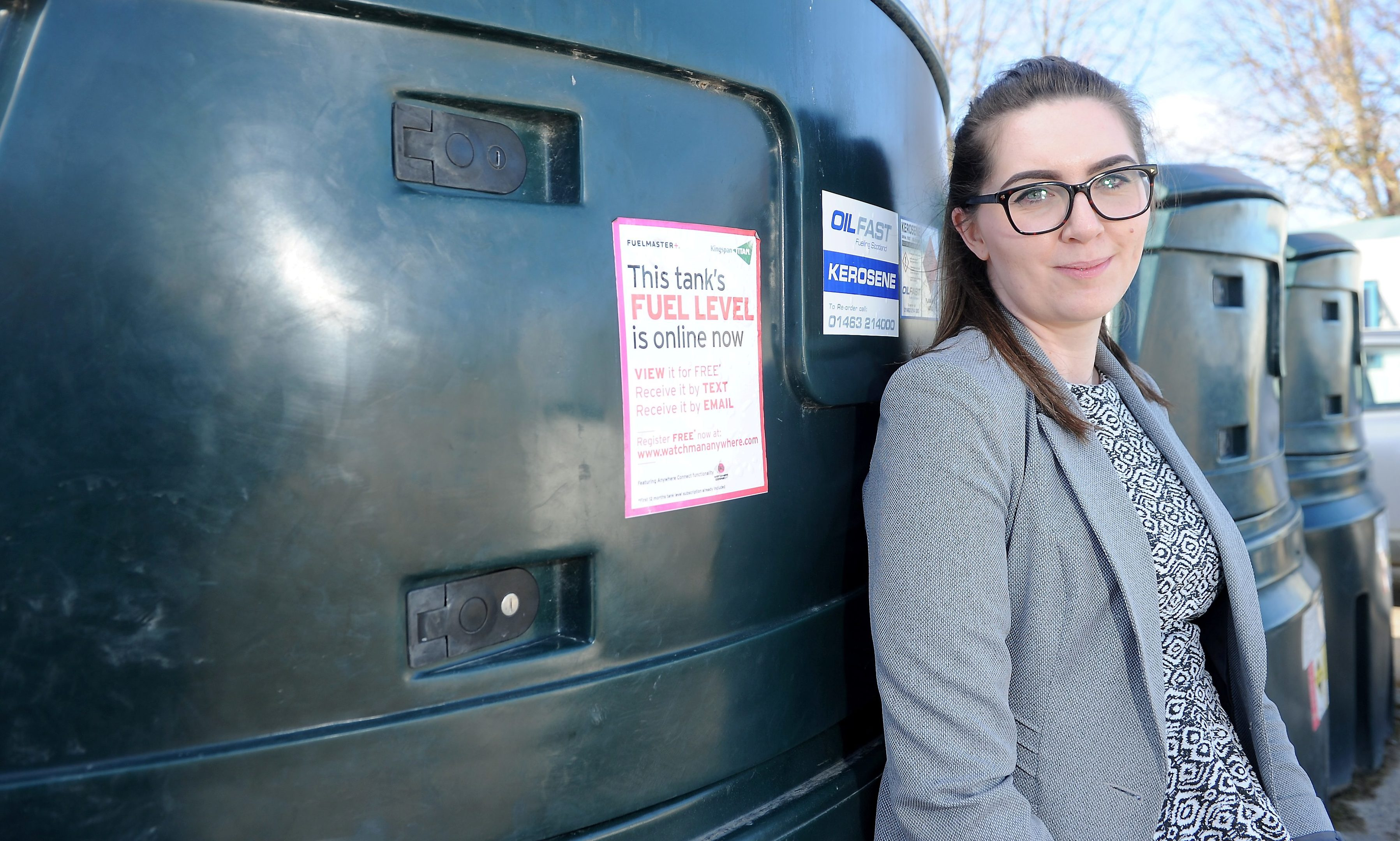Oilfast depot supervisor Katie Macleod has warned rural residents to protect their homes.