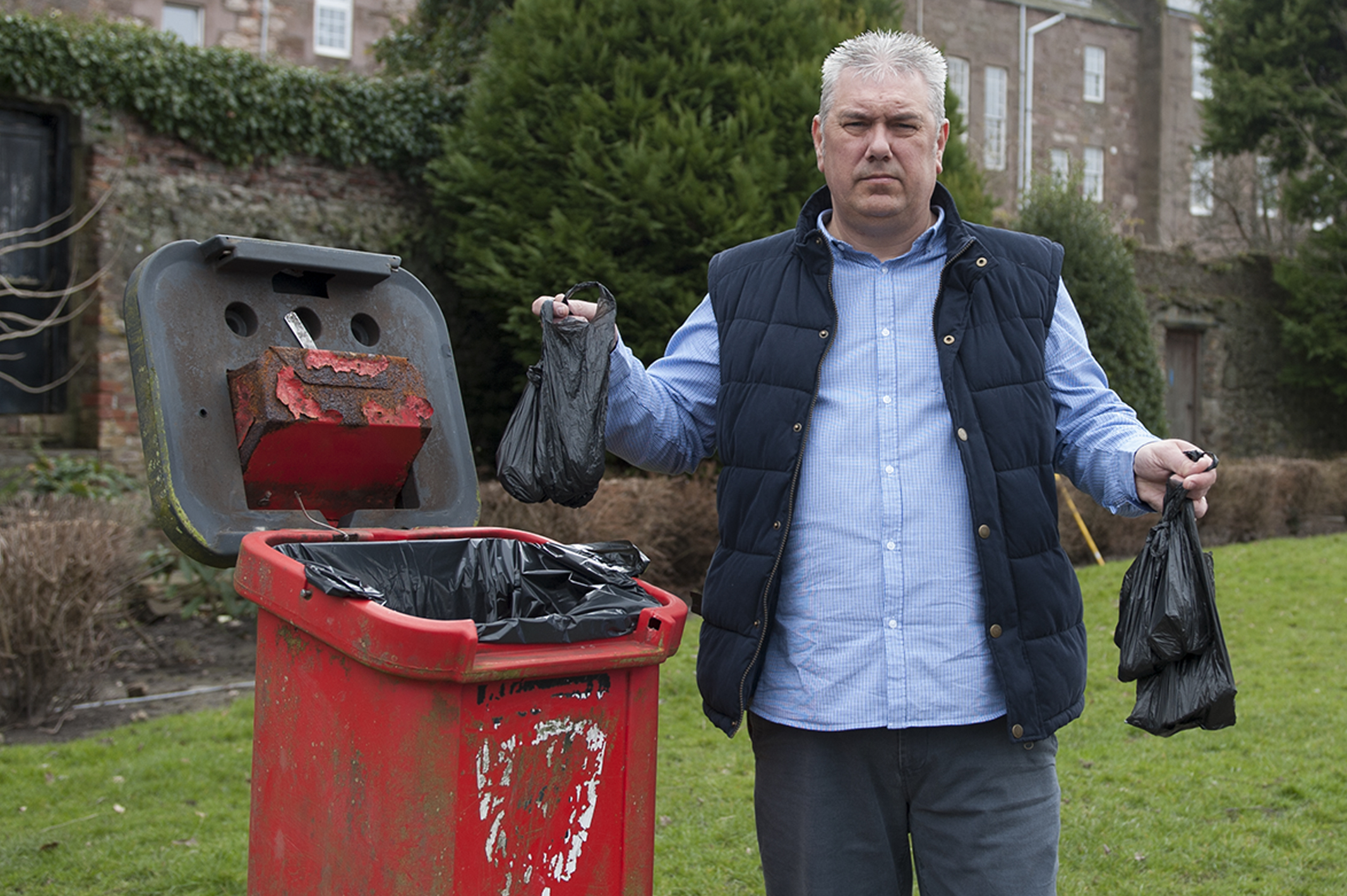 Councillor Tommy Stewart hoped CCTV could be brought into the fight against irresponsible dog owners