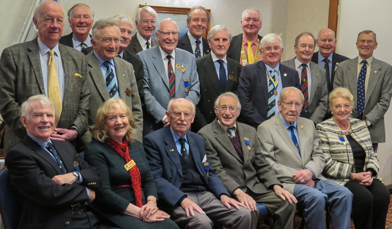 Past presidents gathered for a picture at the 90th anniversary lunch.