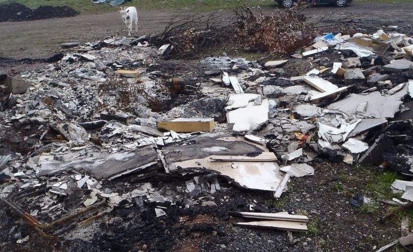 The illegal dumping ground near Blairgowrie