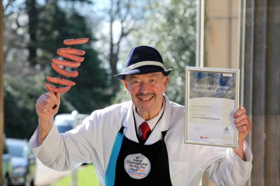 Jim Pirie with his award