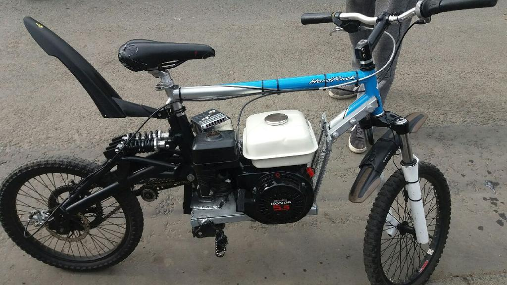 Levenmouth Police have previously warned two men who turned a pedal bike into a motor cycle