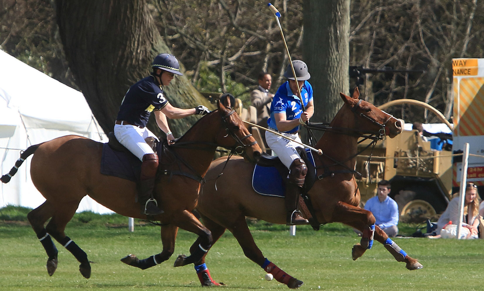 Pictured at errol Park on Saturday during the St  Andrews help for heros Polo event  St andrews (R)V Royal scots Dragoon Guards