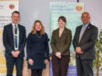 Mr MacGregor, Dr Stofan, Ms  Wilson and Alan Nimmo, Chair of SSERC Board.