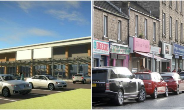 An artist's impressions of the new Smyths (L) and Lochee High Street (R)