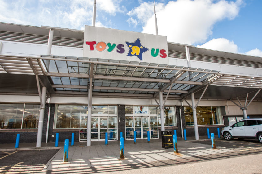 The closed down Toys R Us store in Dundee