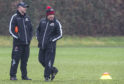 Edinburgh Rugby head coach Richard Cockerill (right) with defence coach Calum MacRae at training yesterday.
