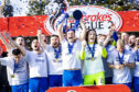 Montrose celebrate winning the Ladbrokes League Two title