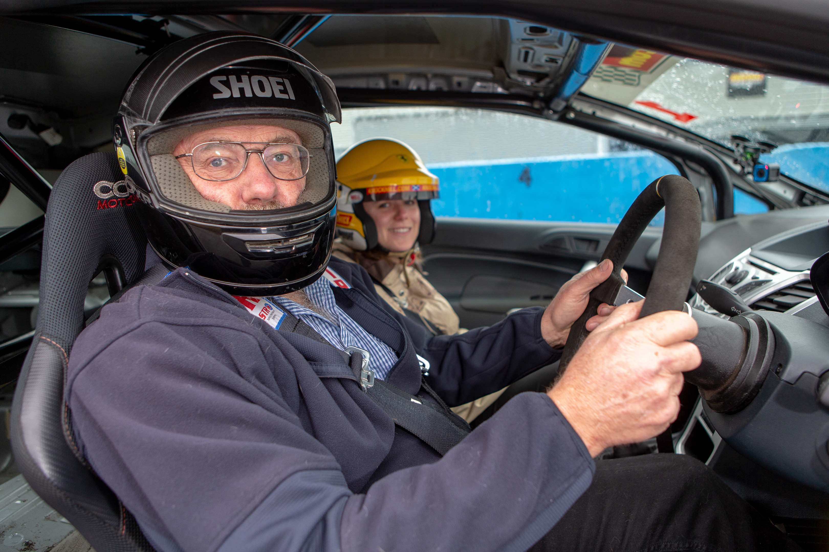 Blind Driver John Playfair at Knockhill