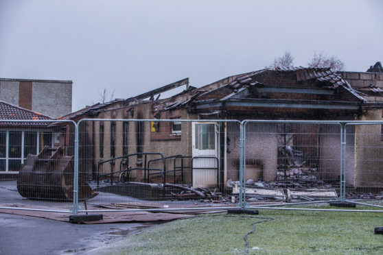 The school's junior section was destroyed in the fire.