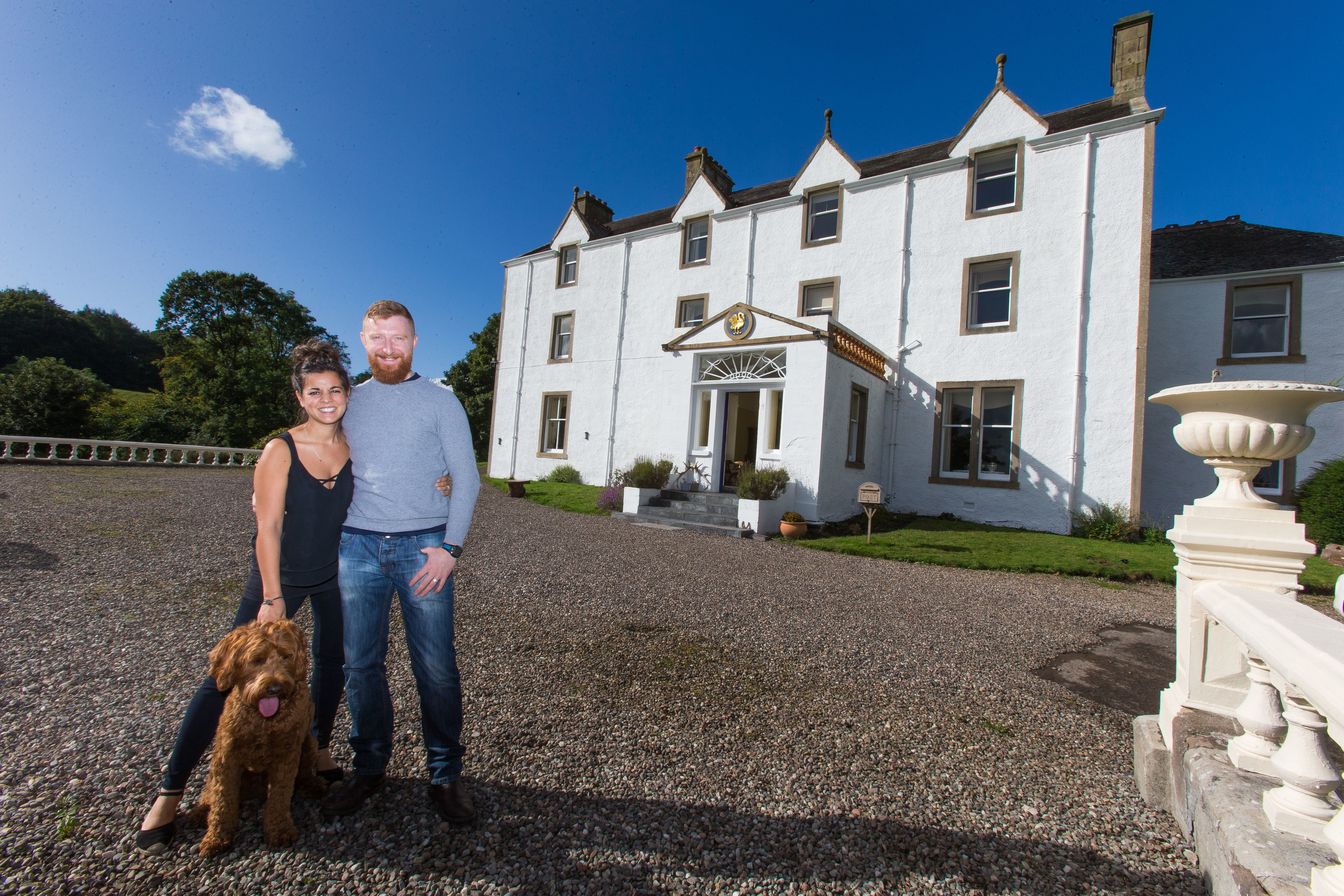 Ian and Ruth Macallan are in a court battle over the access road to Carphin House