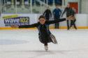 Courier Reporter Nadia Vidinova practising her moves.