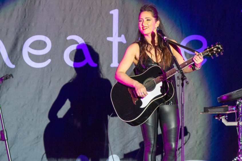 KT Tunstall opens for Gary Barlow at the Caird Hall in April 2018