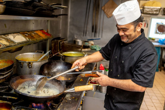 Tulsi's head chef Pius Costa.
