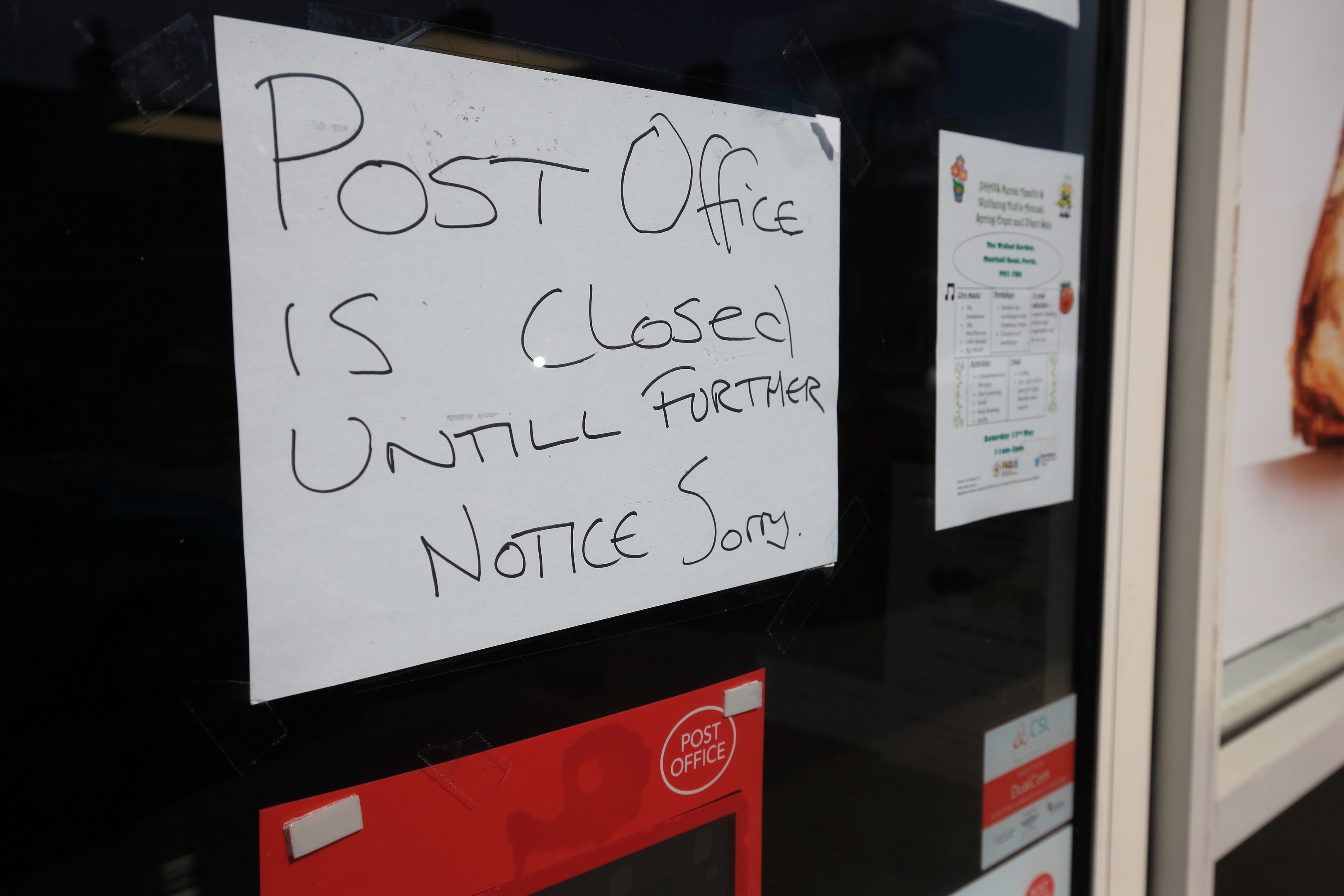 The now closed Scone post office.