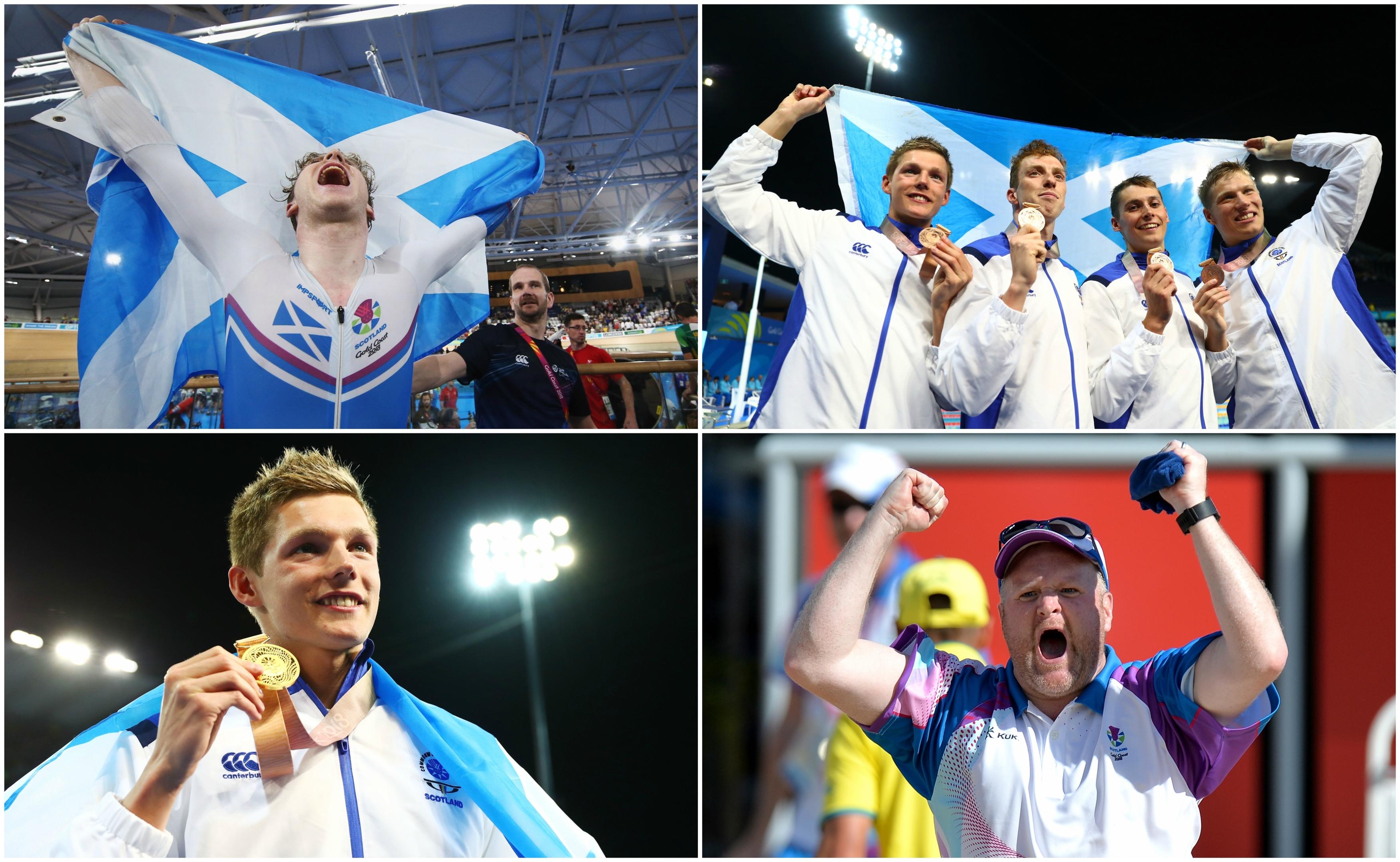 mark Stewart, Suncan Scott, Mark Szaranek, Stephen Milne and Darren Burnett all earned medals for Team Scotland on Sunday.