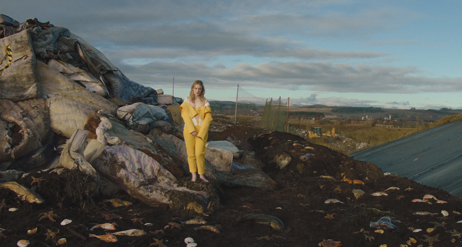 Filming at the Restenneth landfill site for Italian Vogue.