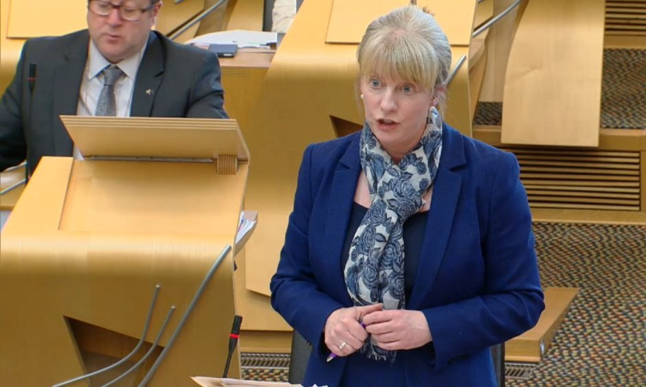 Shona Robison gives her ministerial statement.