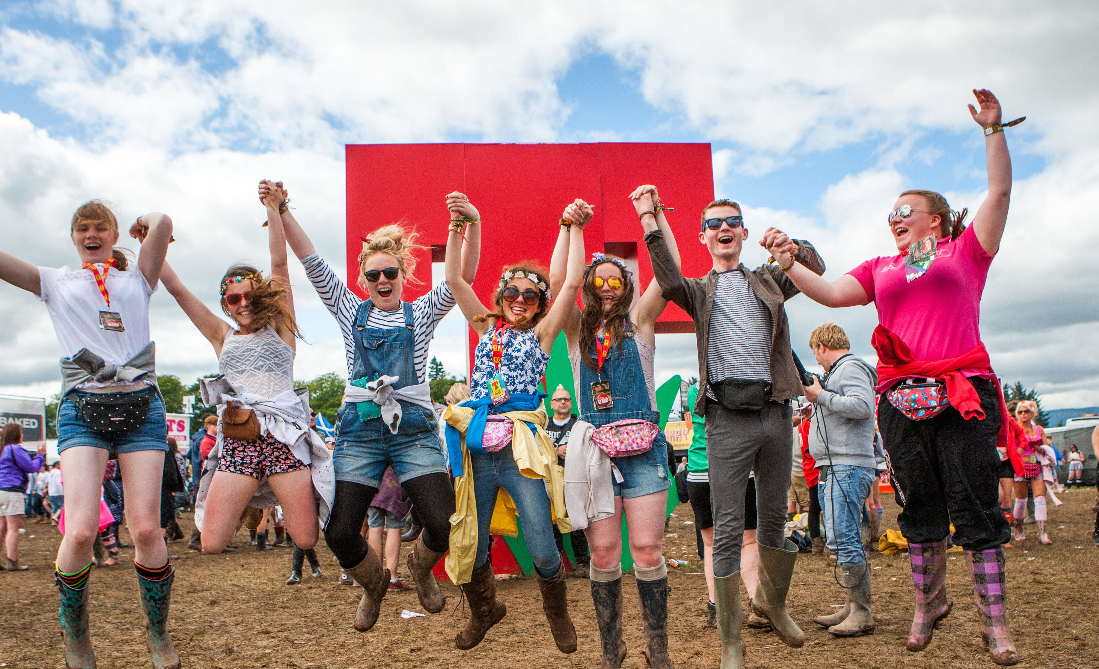 Revellers at T in the Park, Strathallan.