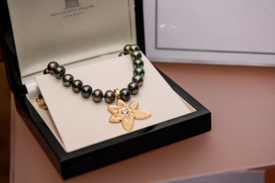 The necklace made by Dundee jeweller Lorraine Law.