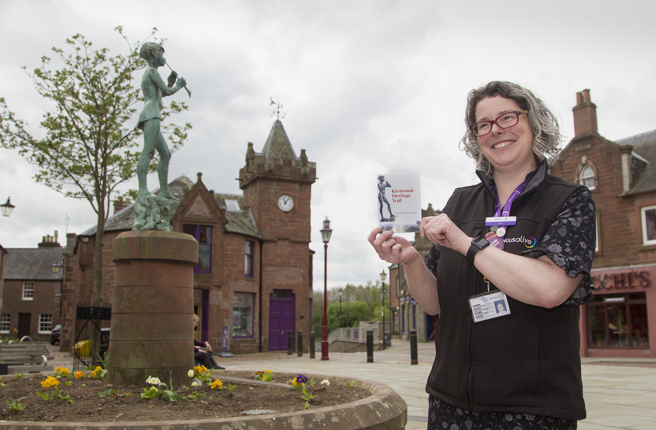 Gateway to the Glens Museum assistant Jen Falconer with the new version of the Kirrie brochure