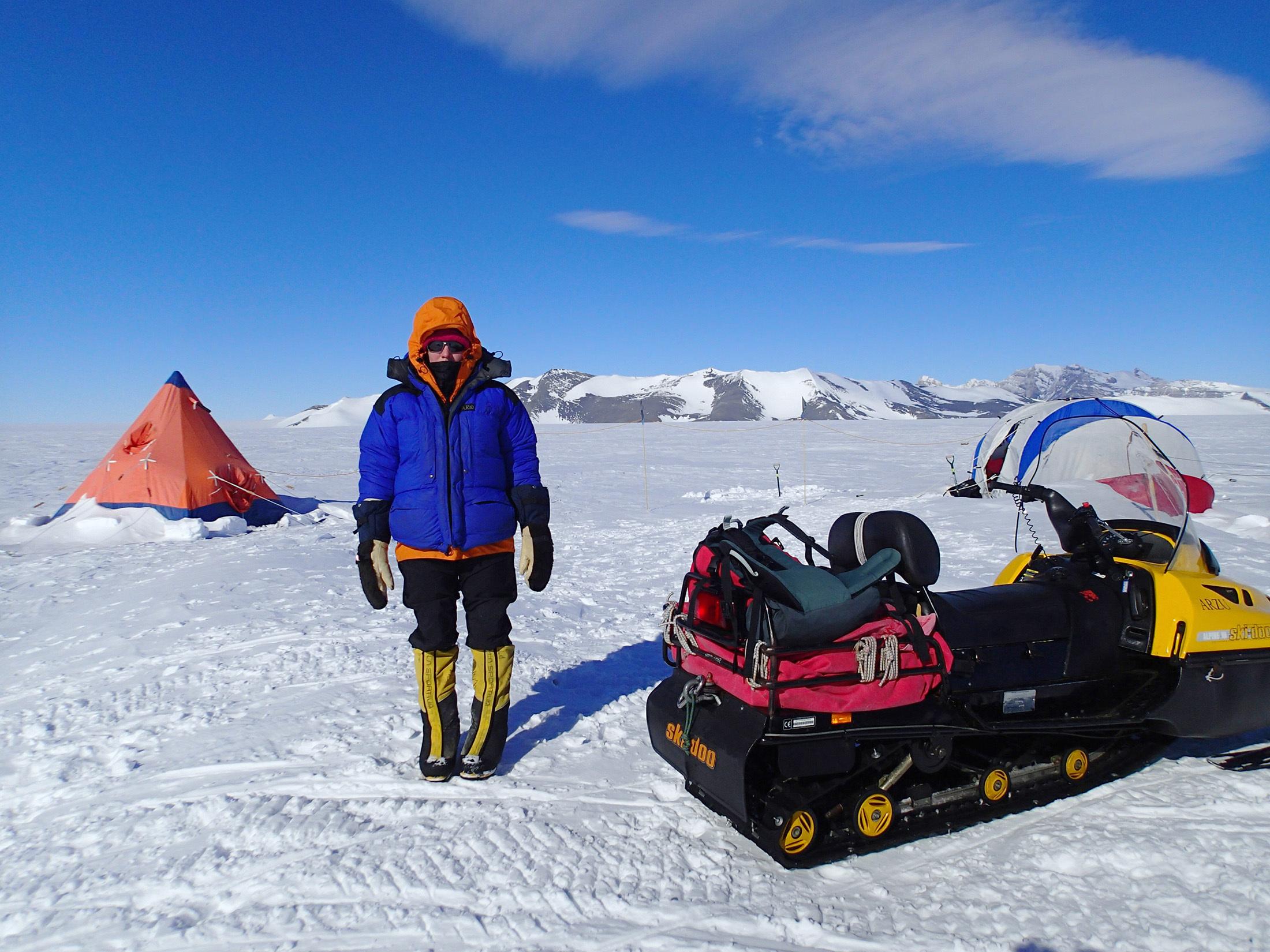 Dr Kate Winter in Antarctica