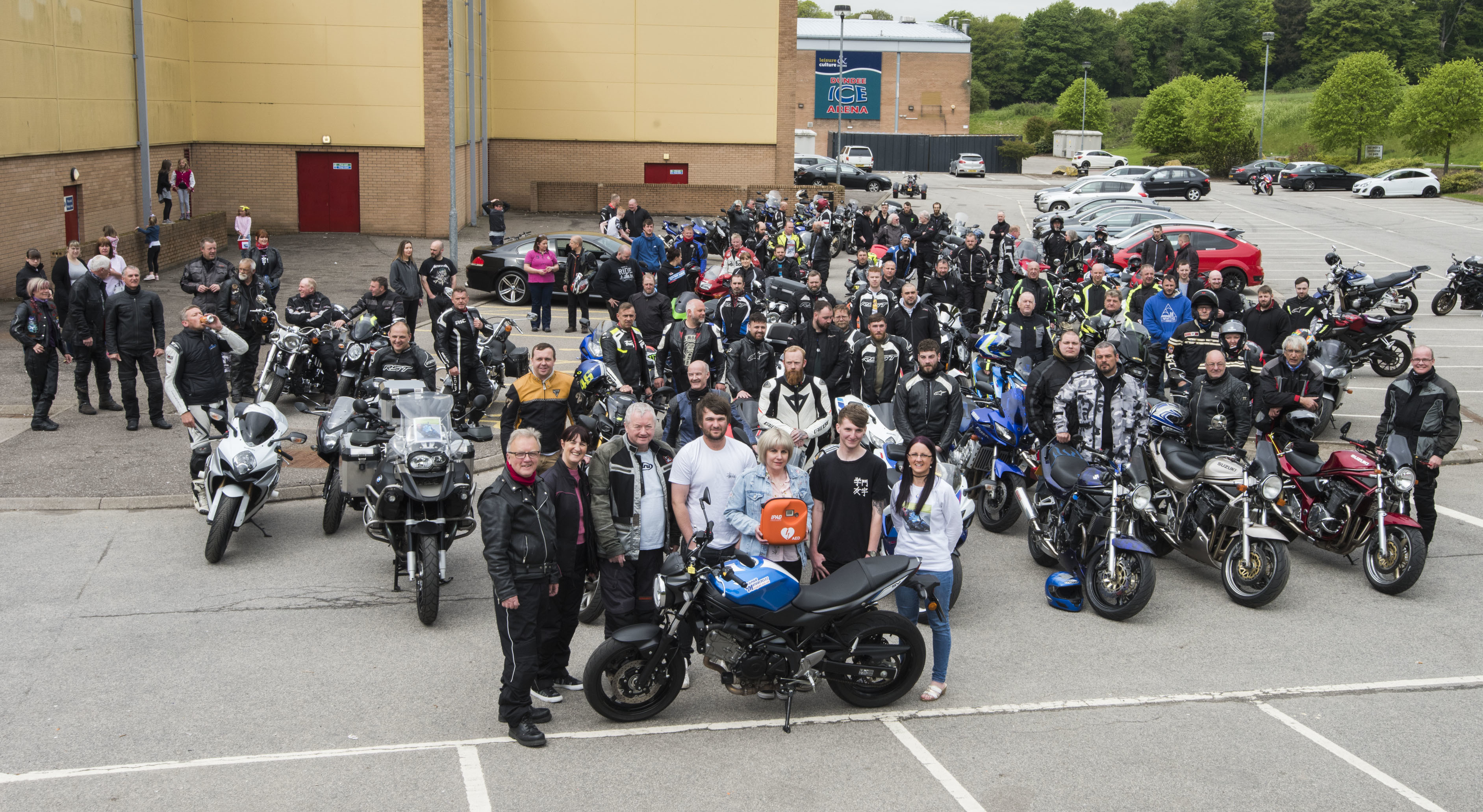 Scores of bikers gathered to remember Graeme Bell with a ride out in 2018.