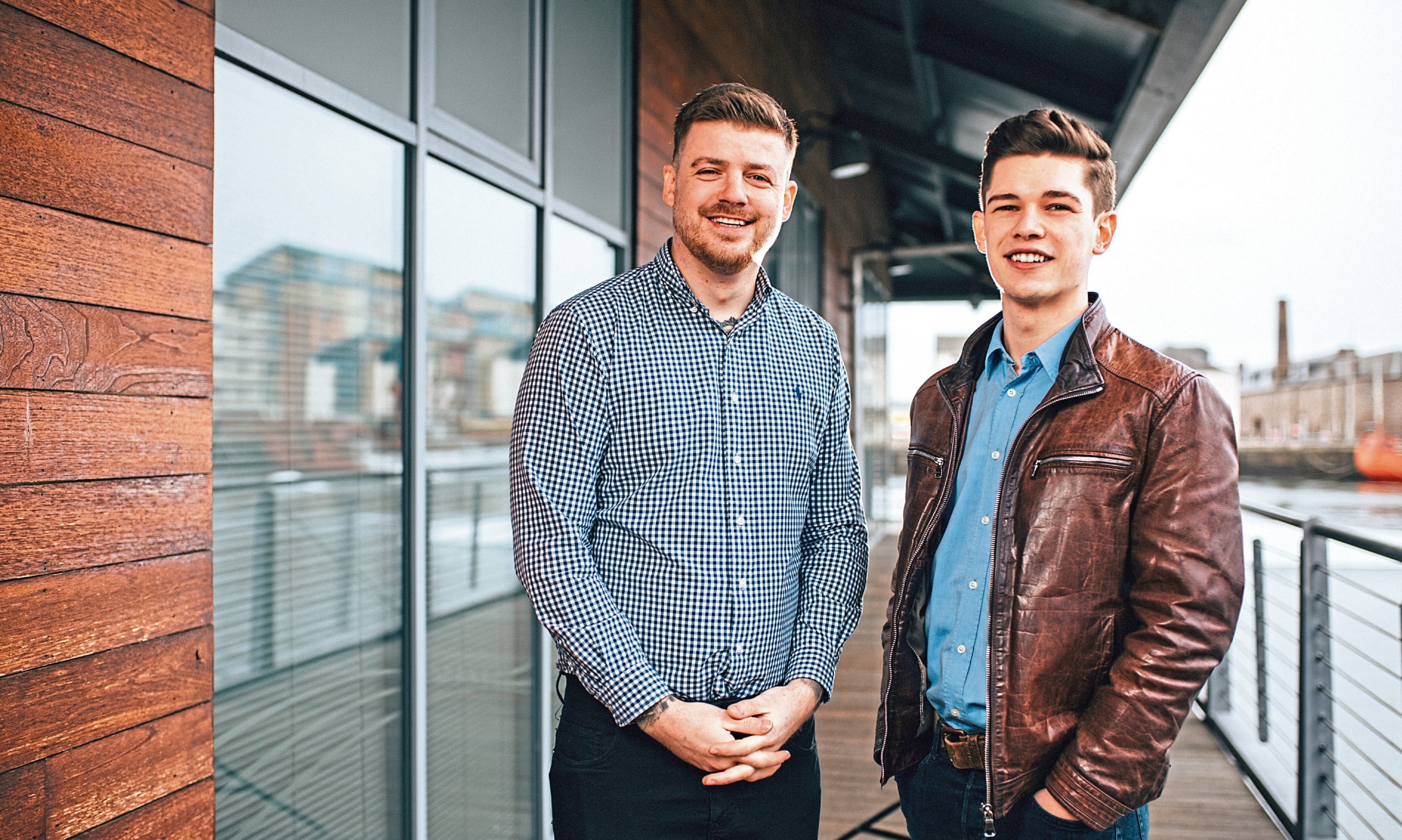 Just Venue founder Jamie Shankland and project lead Callum Dickson. Picture: Dylan Drummond.