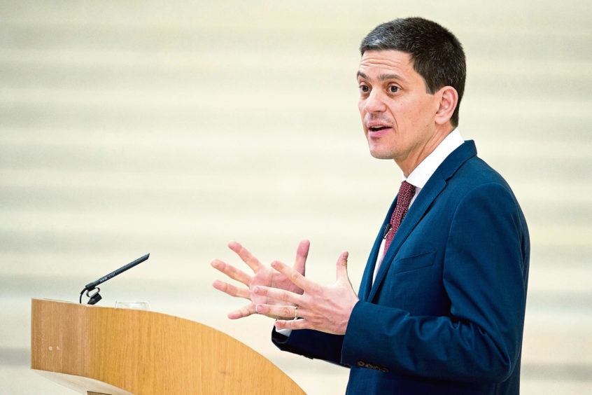 Former foreign secretary David Miliband.