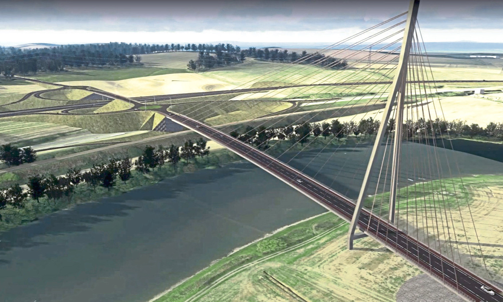 A visualisation of how the Cross Tay Link Project may look.