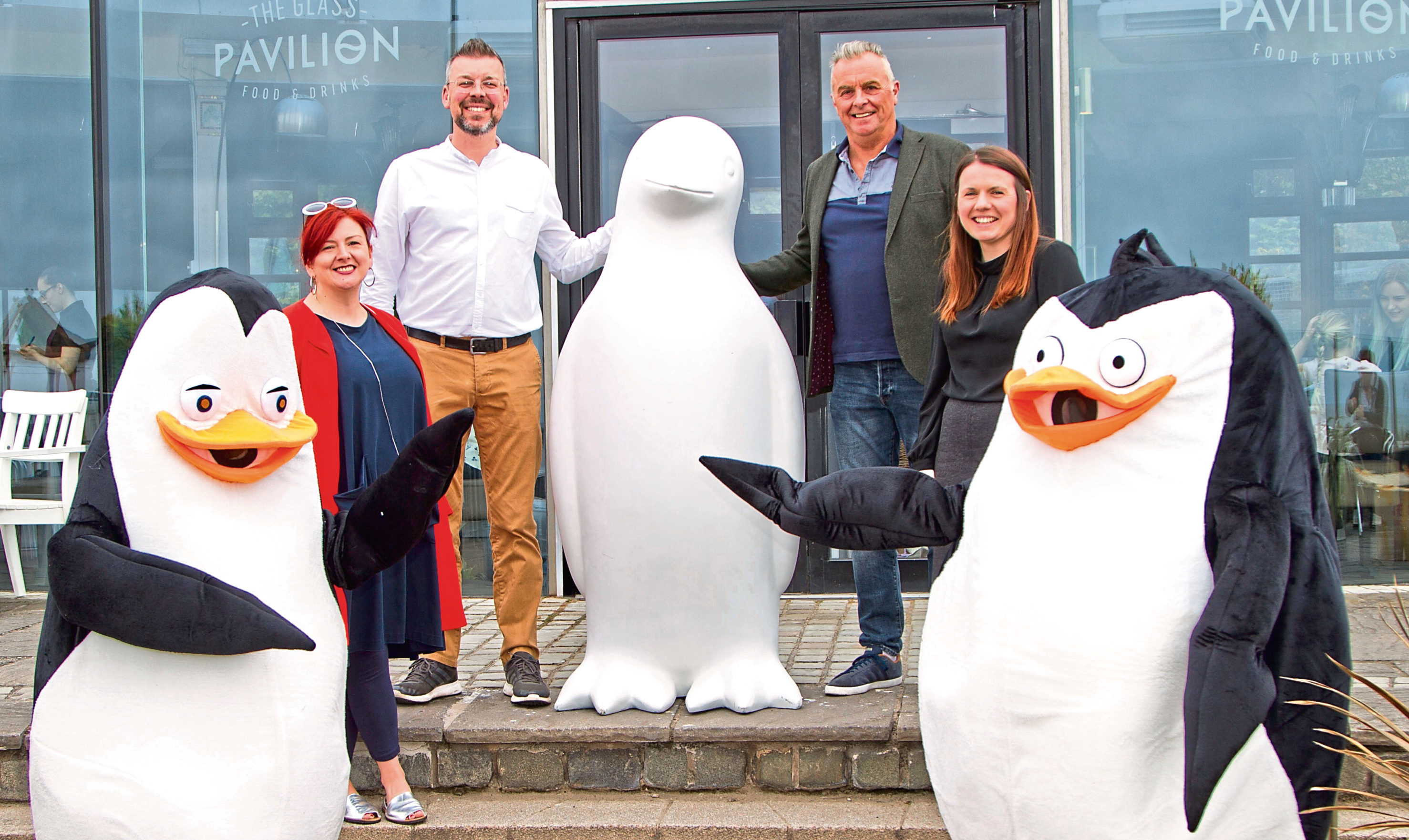 From left: Jan McTaggart of BFTA, John Richardson of the Glass Pavilion, BFTA chairman Steve James and Sarah Young of Dundee and Angus Chamber of Commerce.