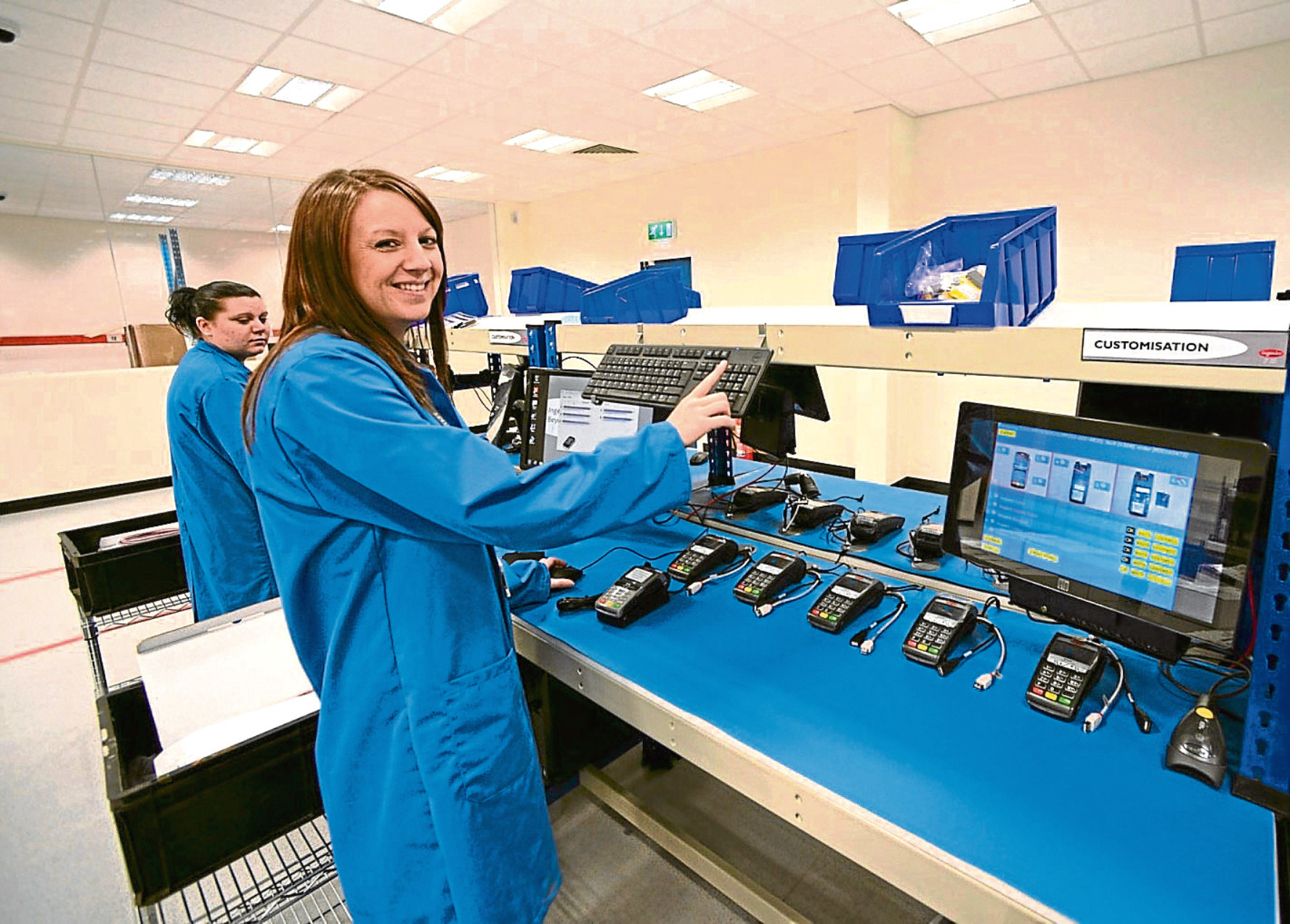 Thousands of handheld payments terminals are tested, packed and supplied by Ingenicos Fife operation each year.