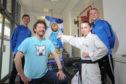 Ben Slaney, Kanzen instructor, Chris Van Der Kuyl, European champion Cerys Hawes and Sensei Roy O'Kane.