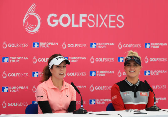 Georgia Hall and Charley Hull are relishing taking on the men at the GolfSixes this weekend.