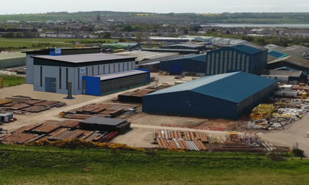 An artist's impression of the Baker Hughes site in Montrose.