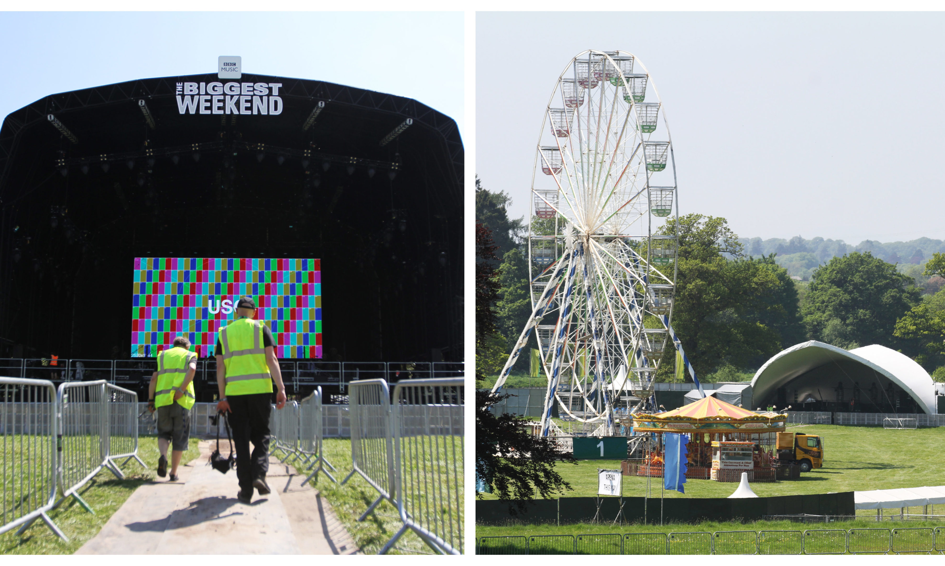Scone Palace has been transformed for BBC's Biggest Weekend