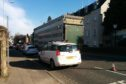 The broken down lorry in Perth's Dundee Road.