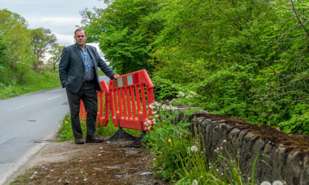 Councillor John Duff at Cultulluch Bridge