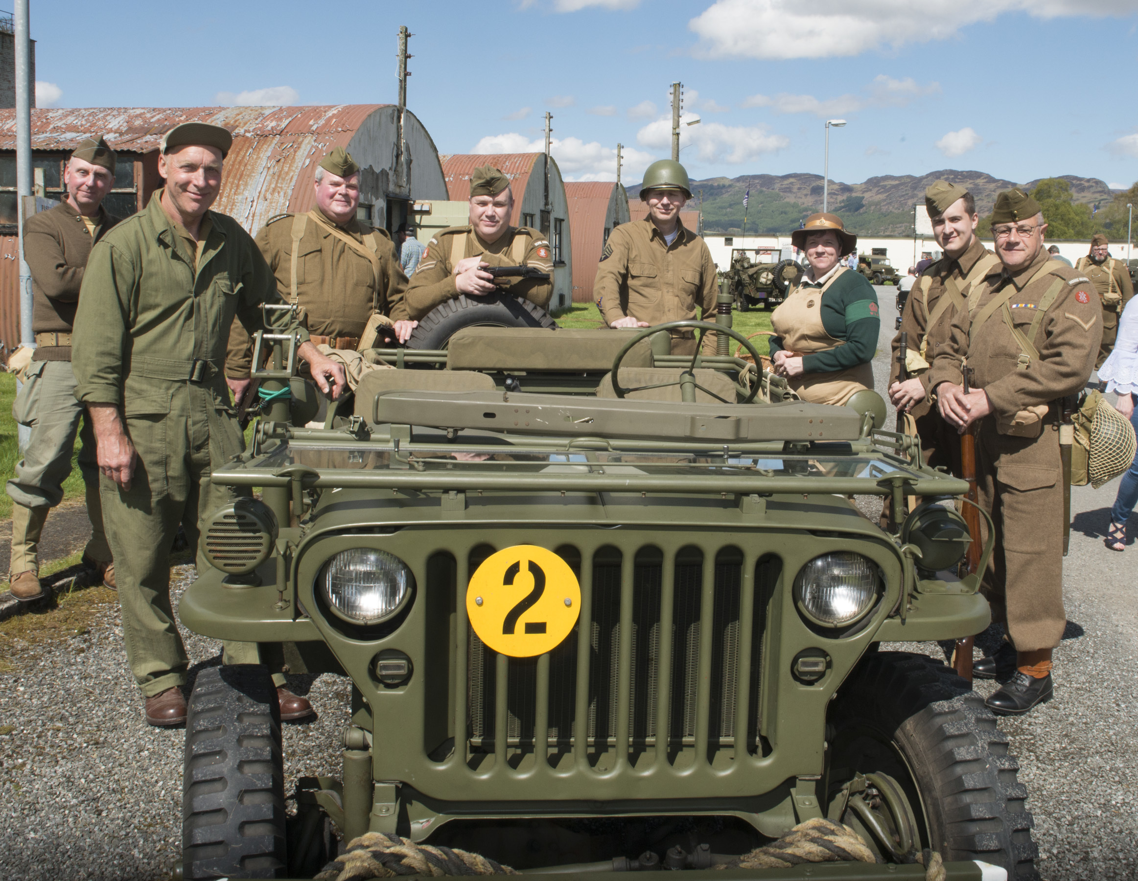 Some of the living history on display at Carry On, Culty