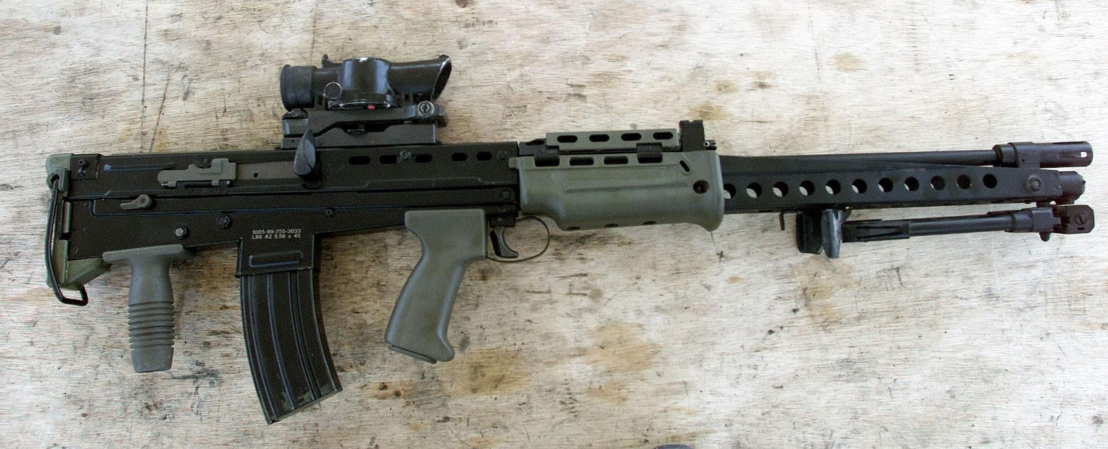 A real SA80 rifle.