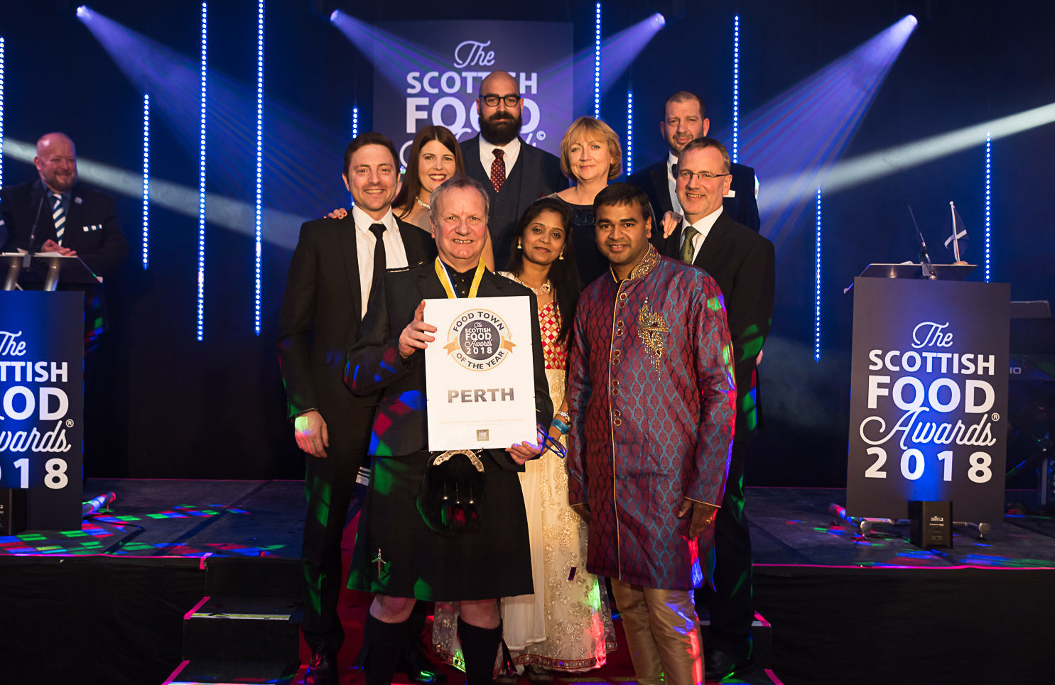 All the Perthshire winners at the awards.
