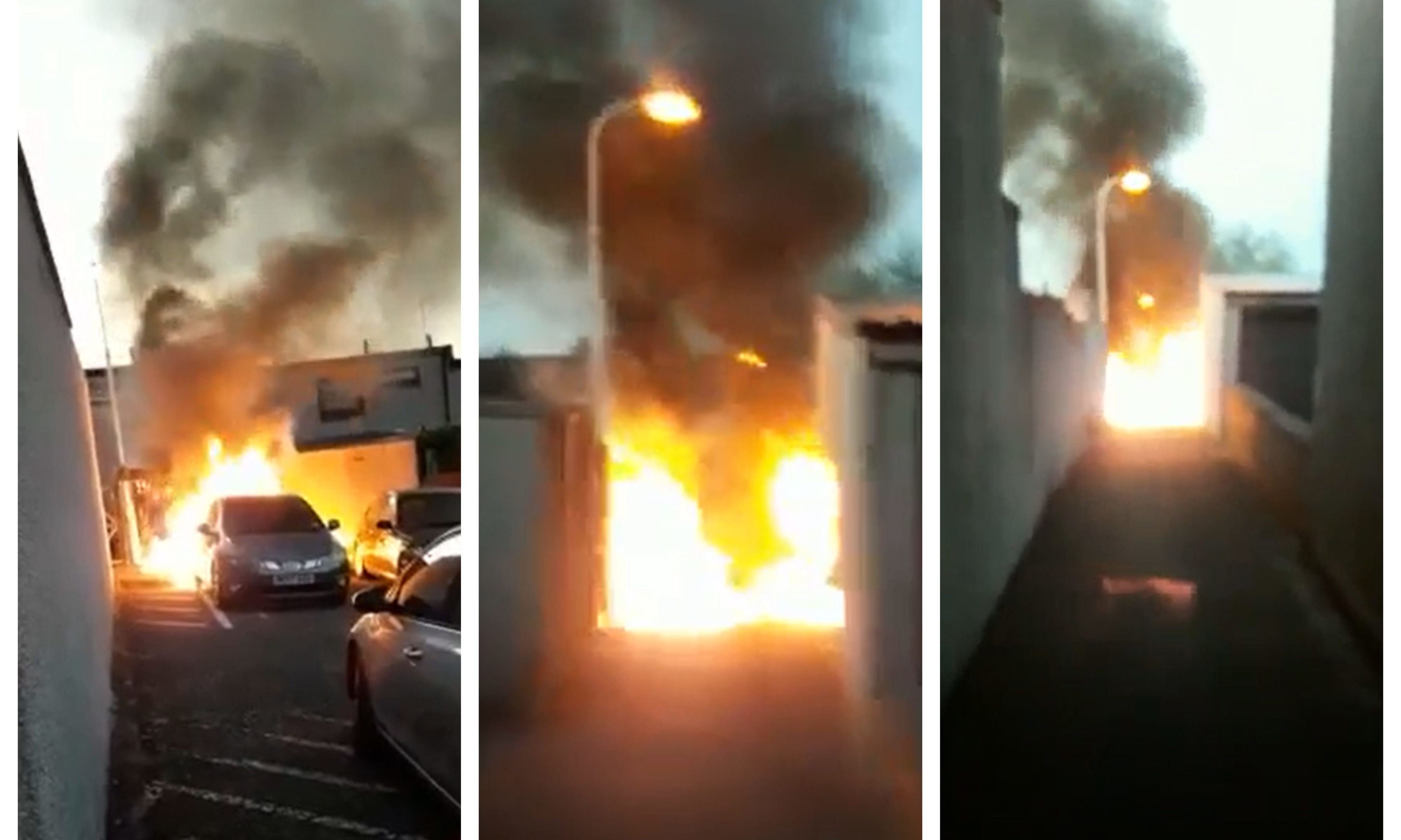 Ian Briggs' car goes up in flames in Glenrothes.