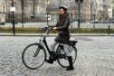 Nadia during her e-bike trial.