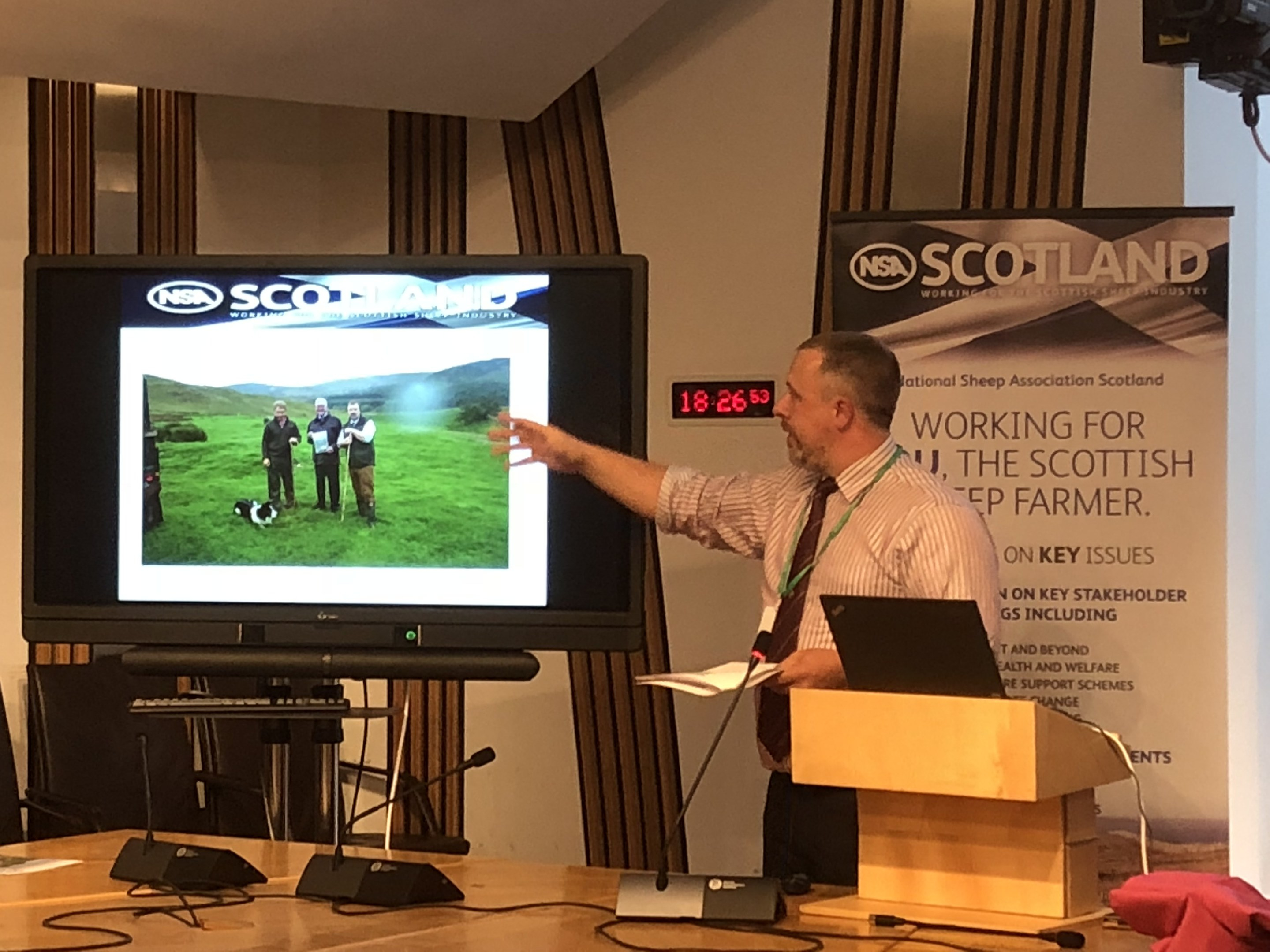 NSA Scotland chairman John Fyall believes the sheep industry has the potential to be worth  £1 billion to Scotland's rural economy.