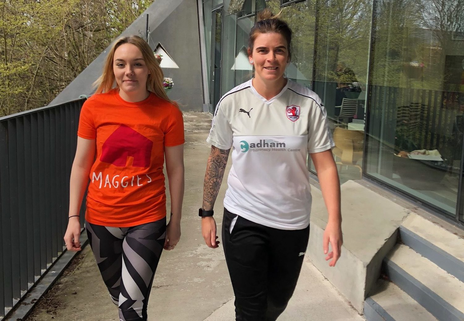 Footballers Stacey Penman and Tyler Rattray (left) will lead Maggie's Fife Twilight Walk