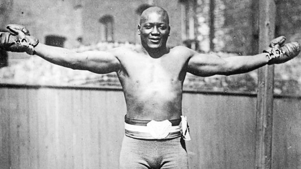 Boxing hero Jack Johnson.