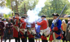 Members of the Alan Brecks Regiment reenactment group gave displays at Balhousie Castle in Perth on Saturday Pic Phil Hannah