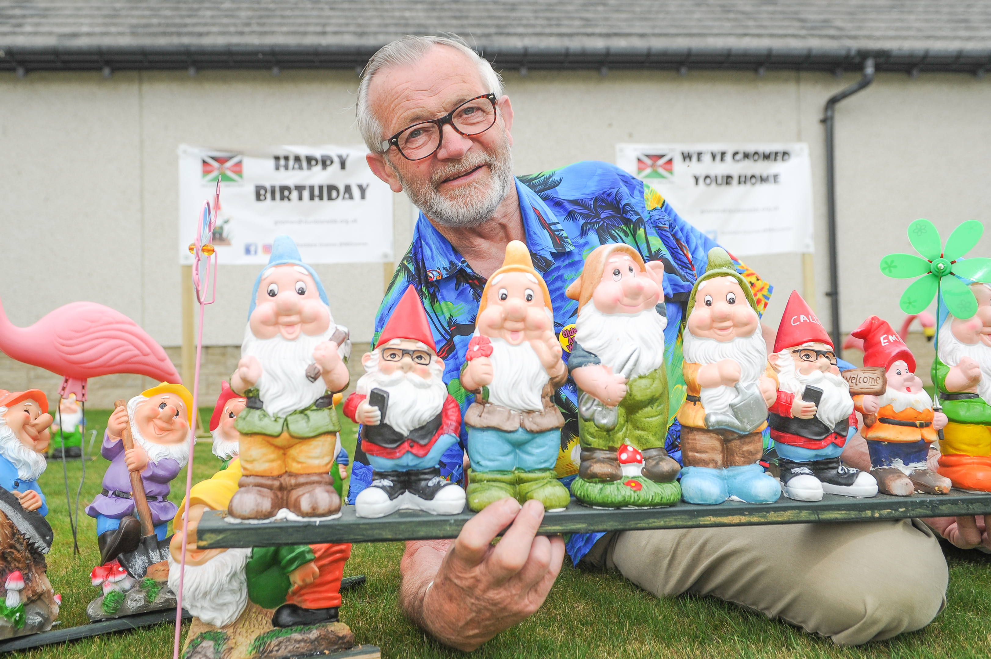 David McLaren and some of the gnomes