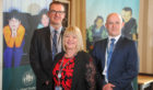 Mark Smith, left, and Carrie Lindsay from Fife Councils childrens services, with DCI John Anderson