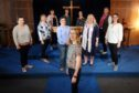 The Leuchars Military Wives Choir including member Samantha Stevenson who will sing on stage with choirmaster Gareth Malone. Picture shows; the members of the choir with front centre - Samantha Stevenson